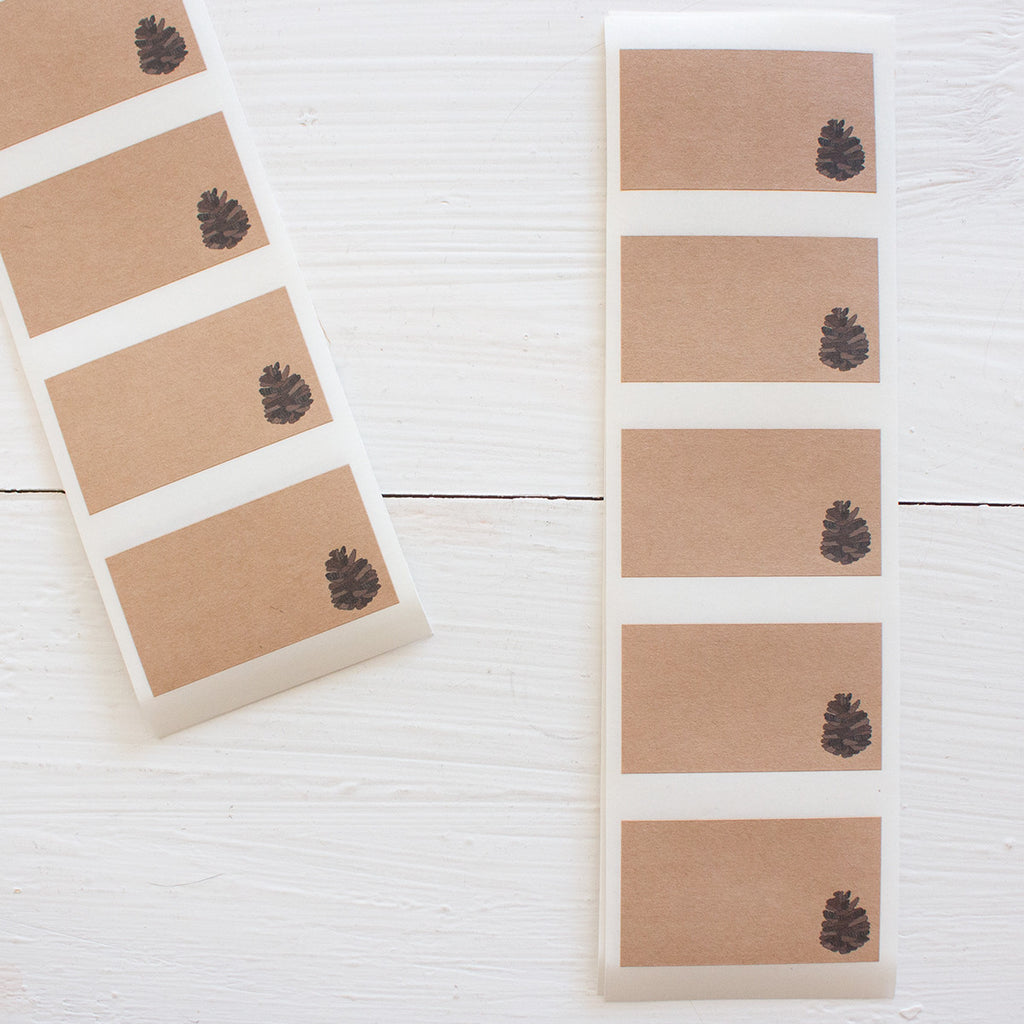 pinecone kraft labels