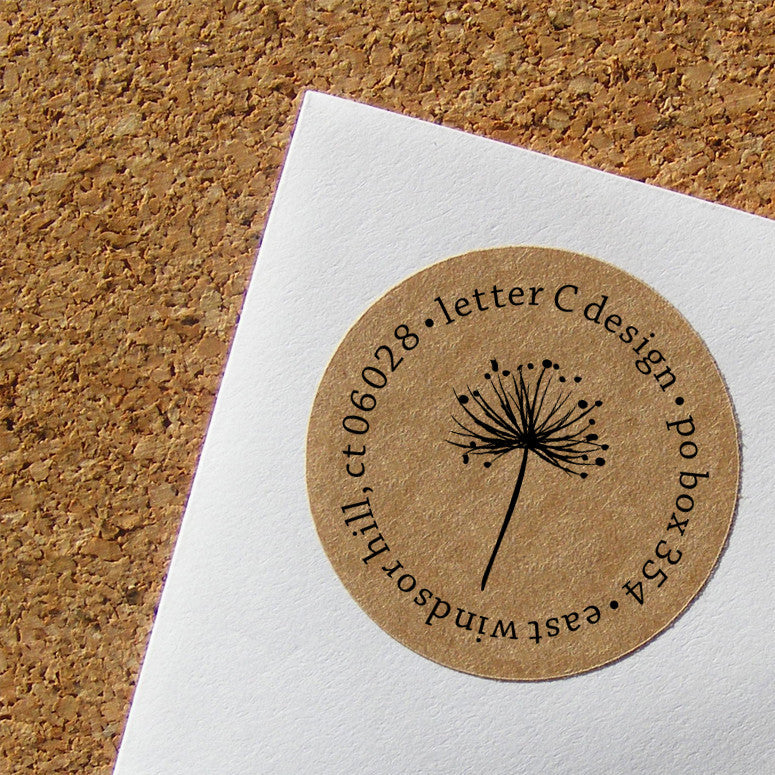 kraft dandelion address labels