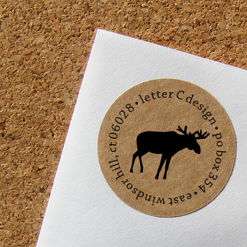 kraft moose address labels