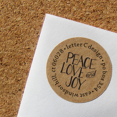 kraft peace love joy address labels