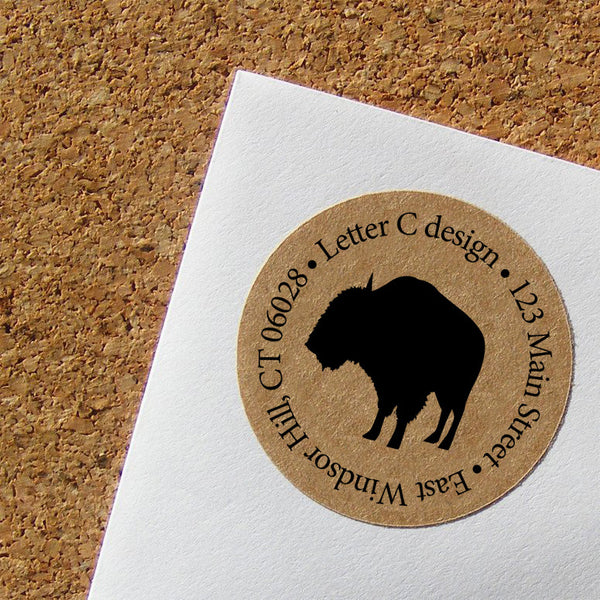 kraft address labels bison