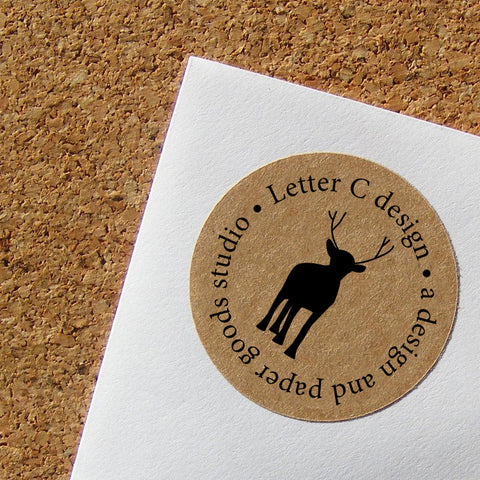 kraft reindeer address labels