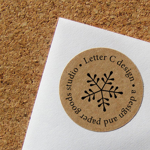 kraft snowflake address labels