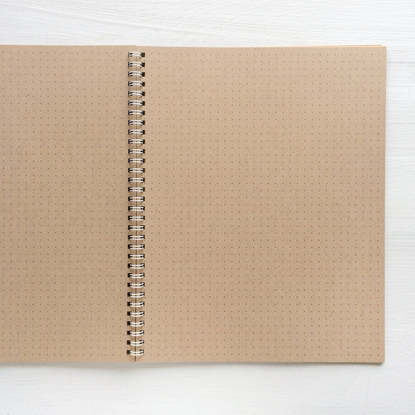 2020 large kraft monthly spiral planner
