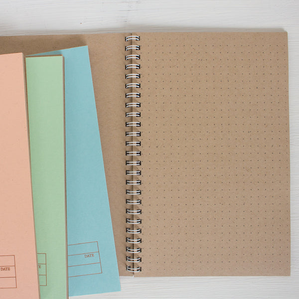 pressed travel notebook with kraft pages - set of 3