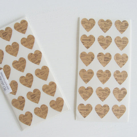 arrow mini heart stickers