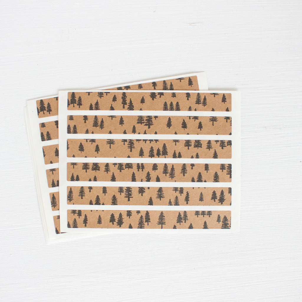 kraft sticker strips - forest