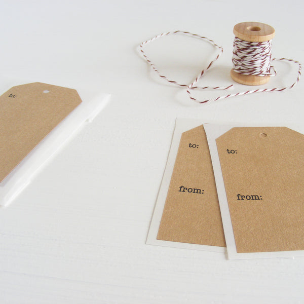kraft shipping tag stickers - gift labels