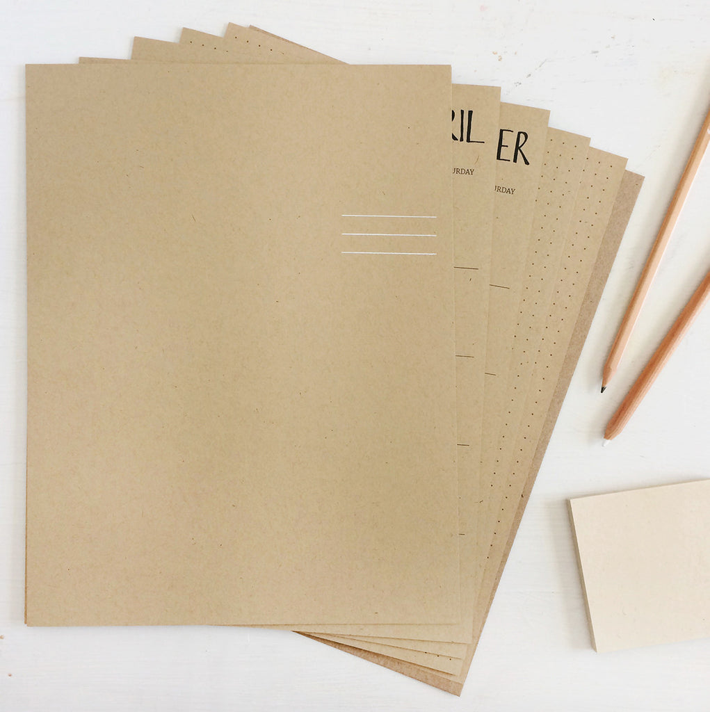 large kraft monthly planner sheets - start any month