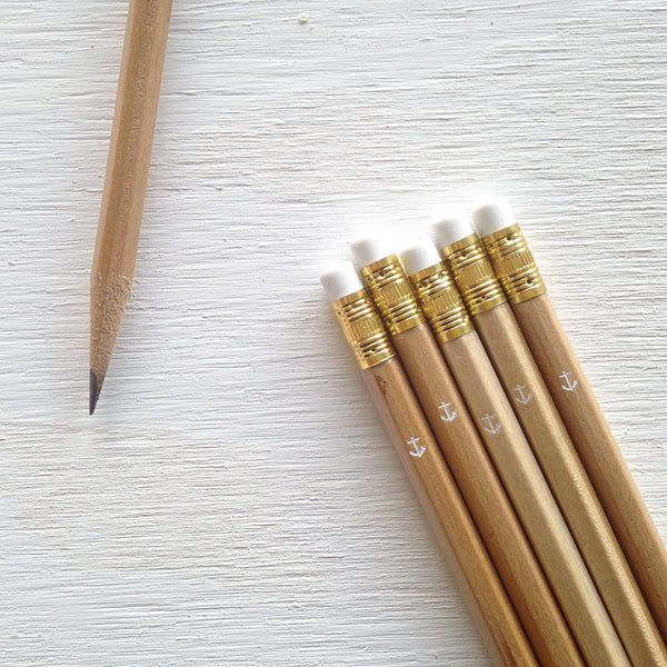 natural pencils with anchor