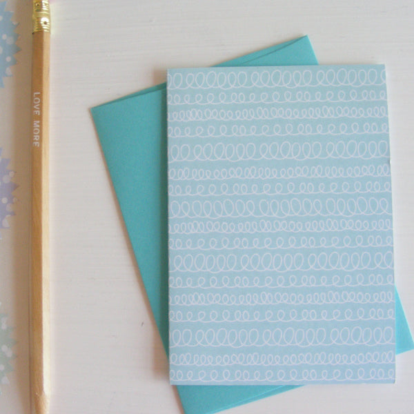 celebrate boxed note card set in blu slushy