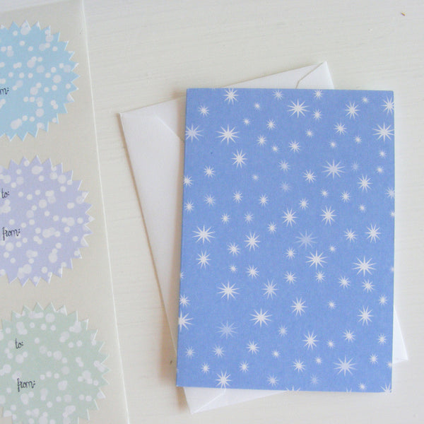 celebrate boxed note card set in fire & ice