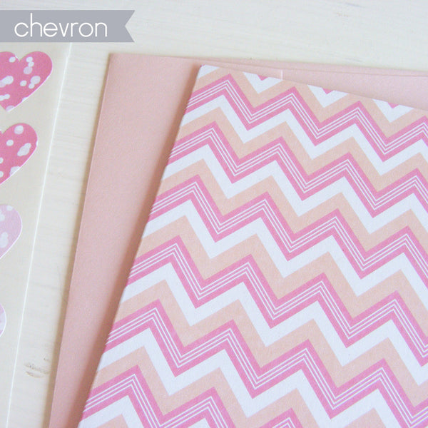 lined boxed note card set in creamscicle