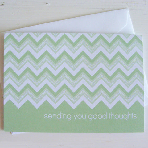 chevron good thoughts note cards
