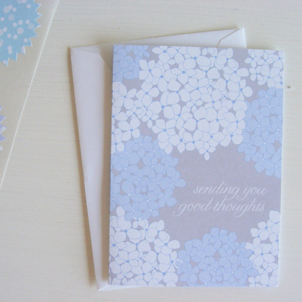hydrangea good thoughts note cards
