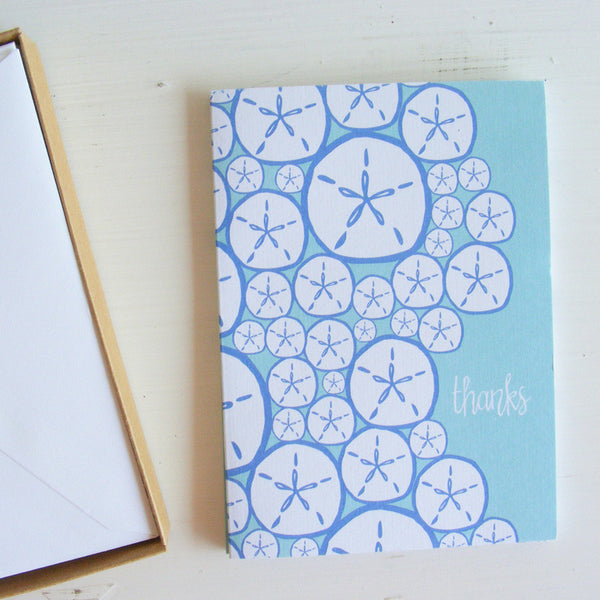 sand dollar thanks note cards