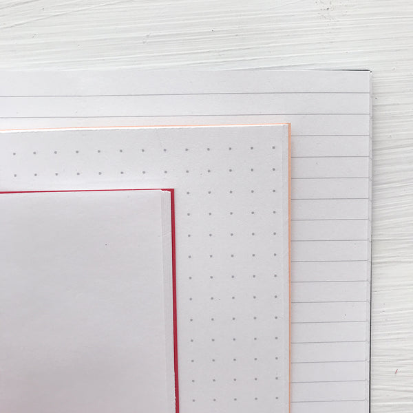 set of 4 mini pocket journals - lined, blank or dot grid