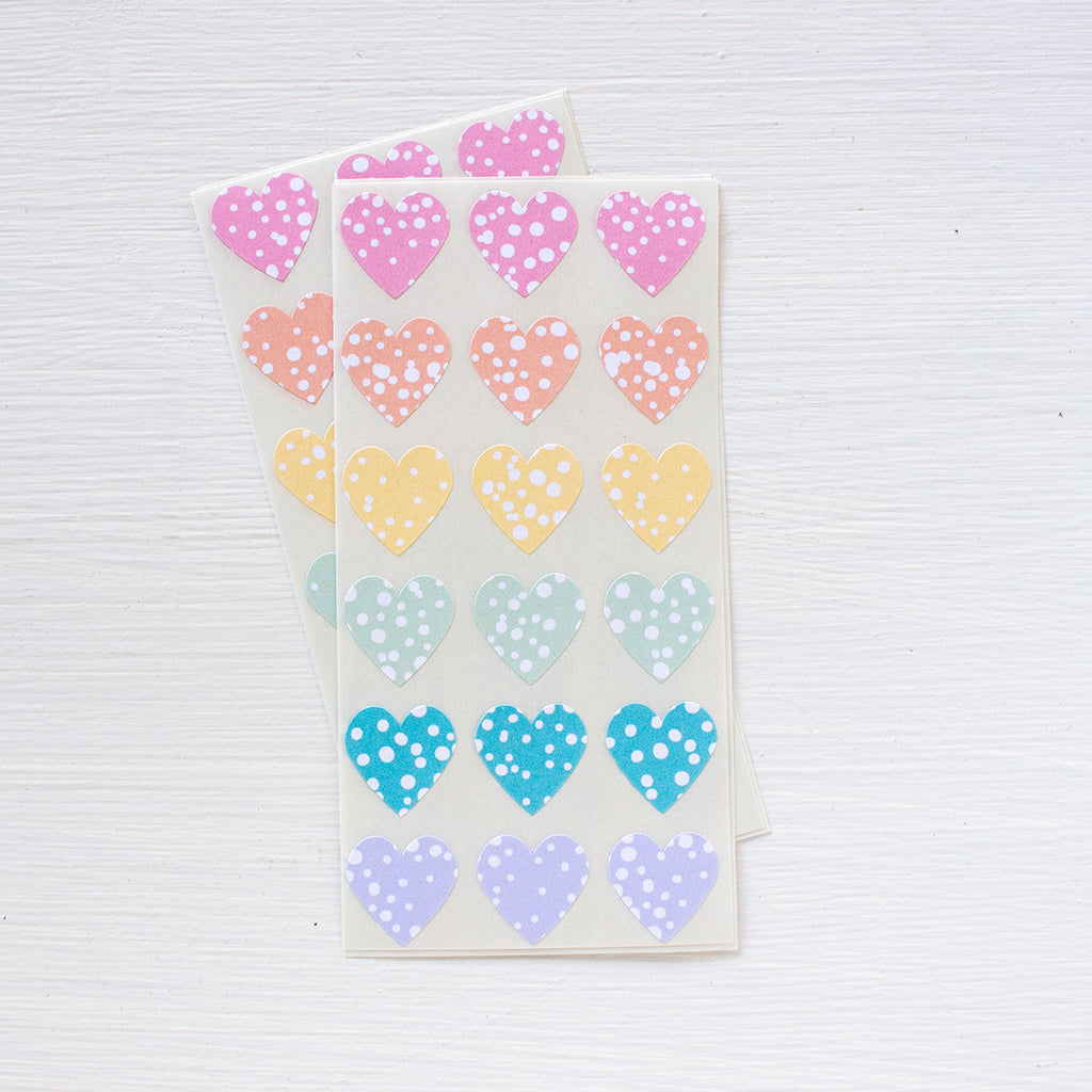 mini heart stickers - stormy