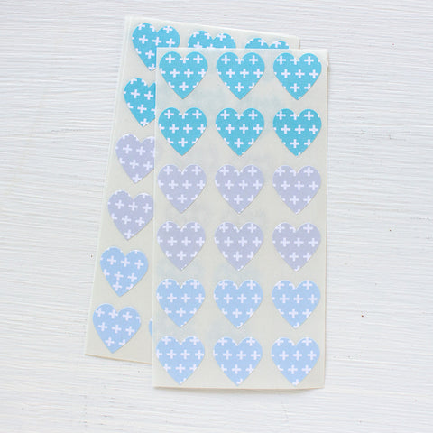 mini heart stickers - plus