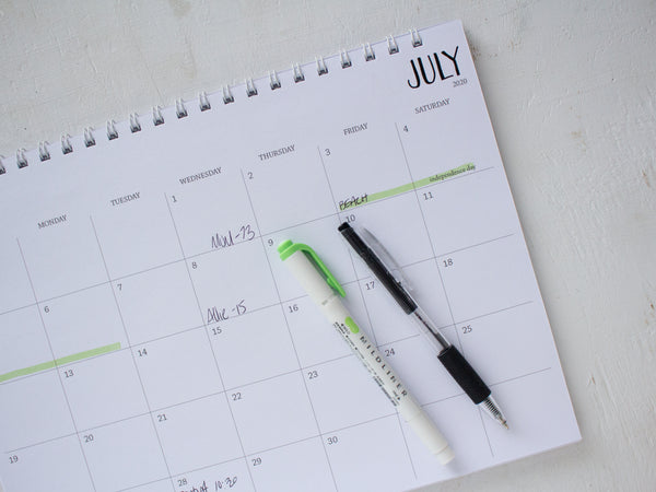 horizontal monthly spiral planner - start any month