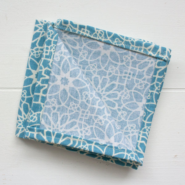 cloth napkins - blue floral