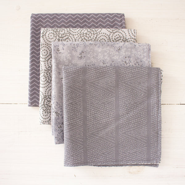 cloth napkins - greys