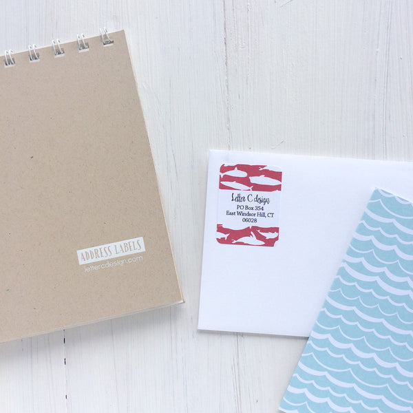 nautical assorted address label book