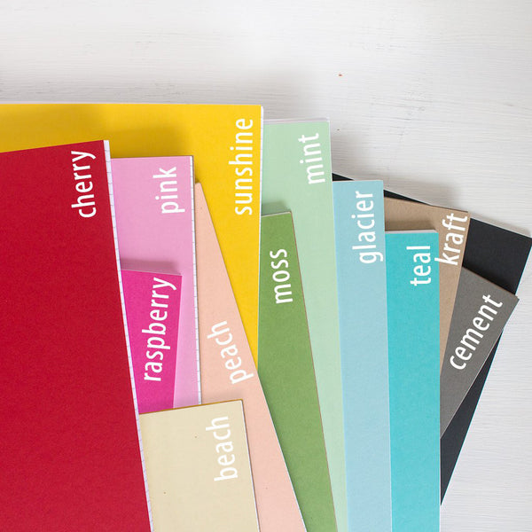 pressed travel notebooks - set of 3