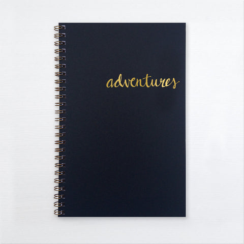 gold foil notebook - adventures