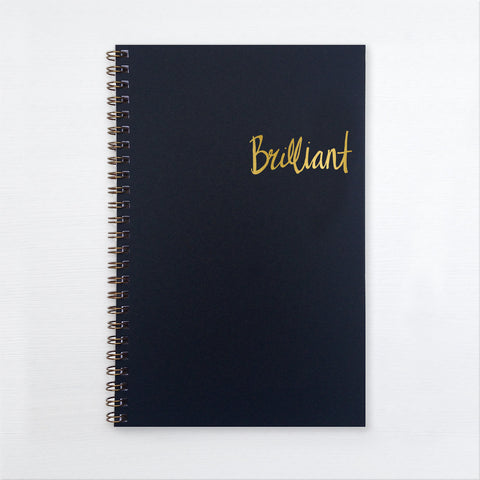 gold foil notebook - brilliant
