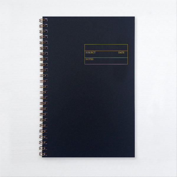 gold foil notebook - form