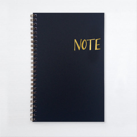 gold foil notebook - note