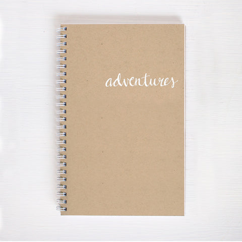 kraft foil notebook - adventures