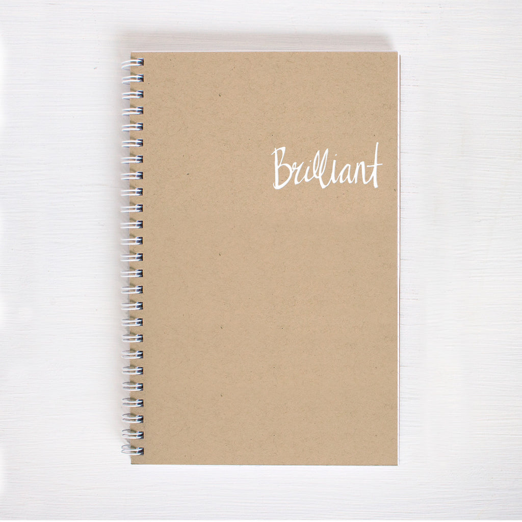 kraft foil notebook - brilliant