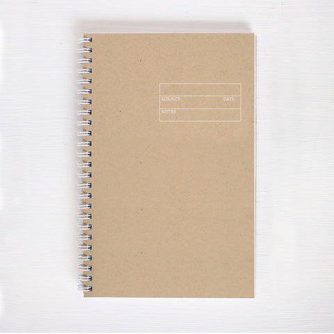 kraft foil notebook - form