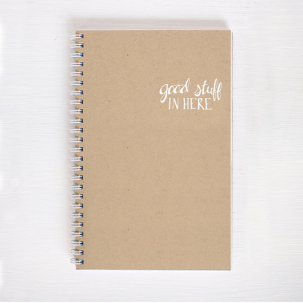 kraft foil notebook - good stuff