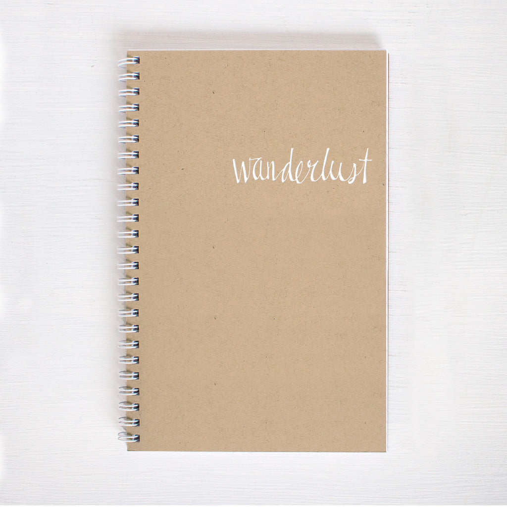 kraft foil notebook - wanderlust