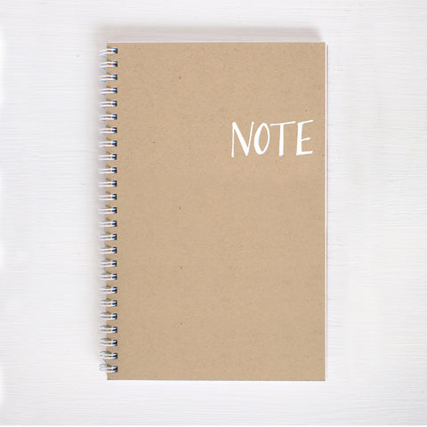 kraft foil notebook - note