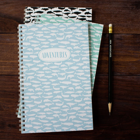 pod of whales personalized travel notebook set