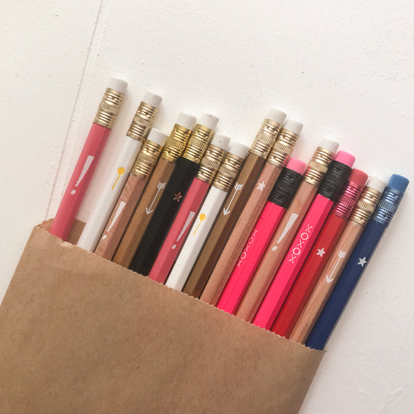 Assorted Foil Stamped Pencils