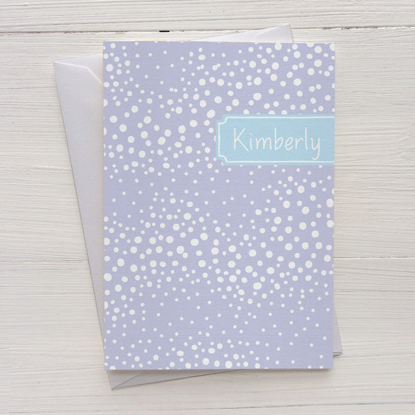 stormy dots folded mix and match personalized notecards and gift set