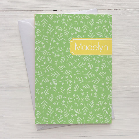 forest floor mix and match personalized notecards and gift set