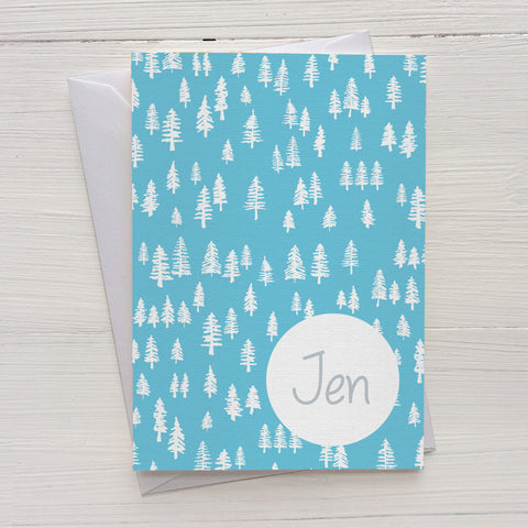 forest mix and match personalized notecards and gift set