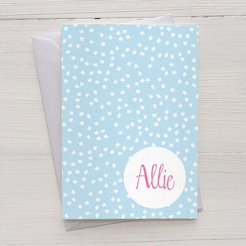 tiny flakes folded mix and match personalized notecards and gift set