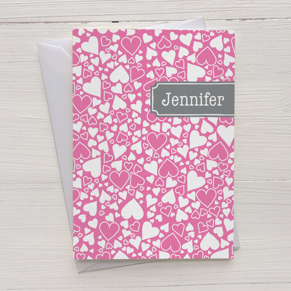 heart bubbles folded mix and match personalized notecards and gift set