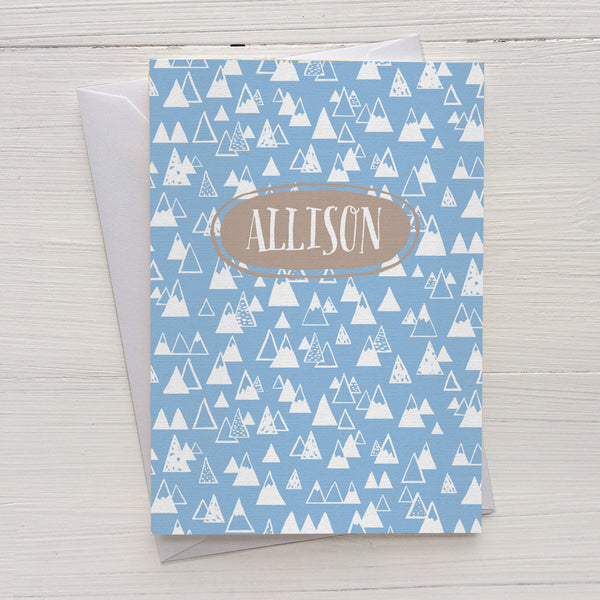 mountains mix and match personalized notecards and gift set