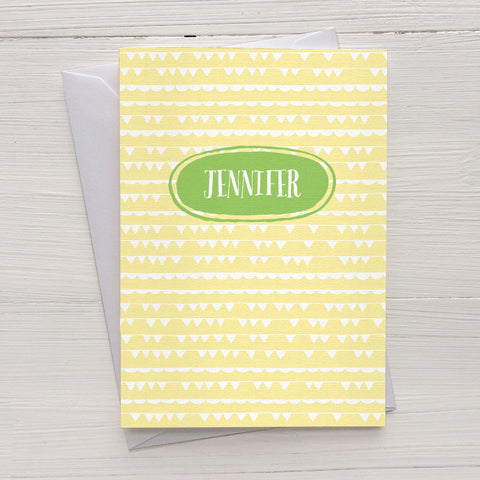 party banner folded mix and match personalized notecards and gift set