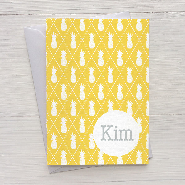 pineapples mix and match personalized notecards and gift set