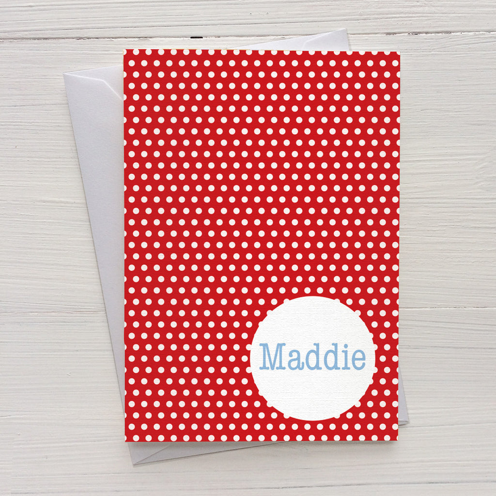 swiss dots folded mix and match personalized notecards and gift set