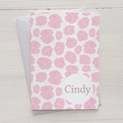 poppies mix and match personalized notecards and gift set